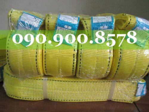 Cáp vải cẩu hàng 3 tấn, bản rộng 75mm